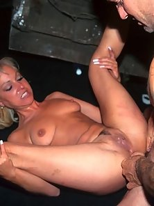 blonde taking on guys with huge cocks