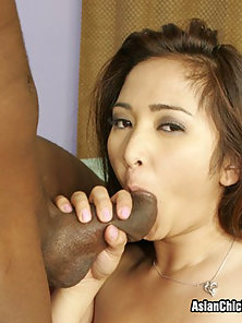 Stacked Asian Hottie Craves Black Cock
