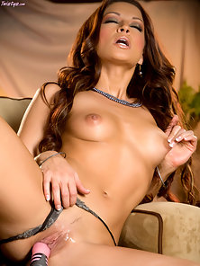Ann Marie Rios toying her sweet pussy