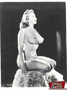 Very real vintage buxom naked girl pictures with pubic hair