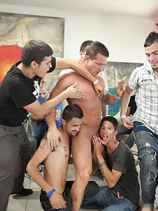 Deep throating that Strippers cock!