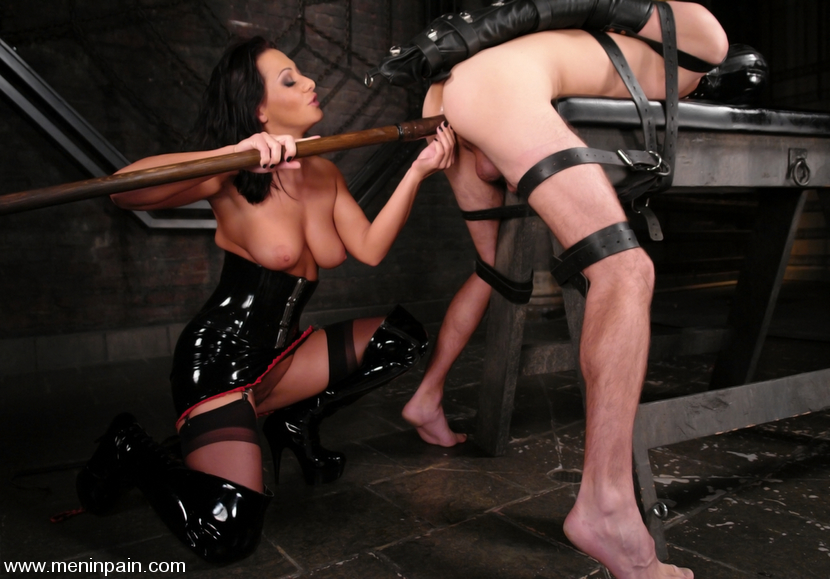 Mistress Sandra Romain fucks slave boy Mistress Sandra Romain fucks slave  boy ...