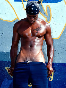 Black stud with a raging hard on ready to take you on