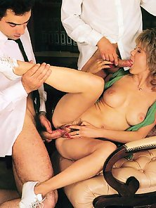Retro student banged by two teachers
