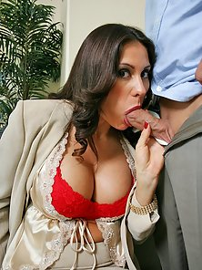 Super huge titted babe sucks cock and gets fucked while at the office!