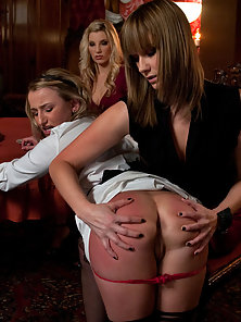 When Maitresse Madeline's maid fucks up in front of company she is punished and humiliated by three