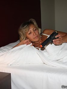 The tough old slut forces the burglars to fuck her from both ends and she takes it all