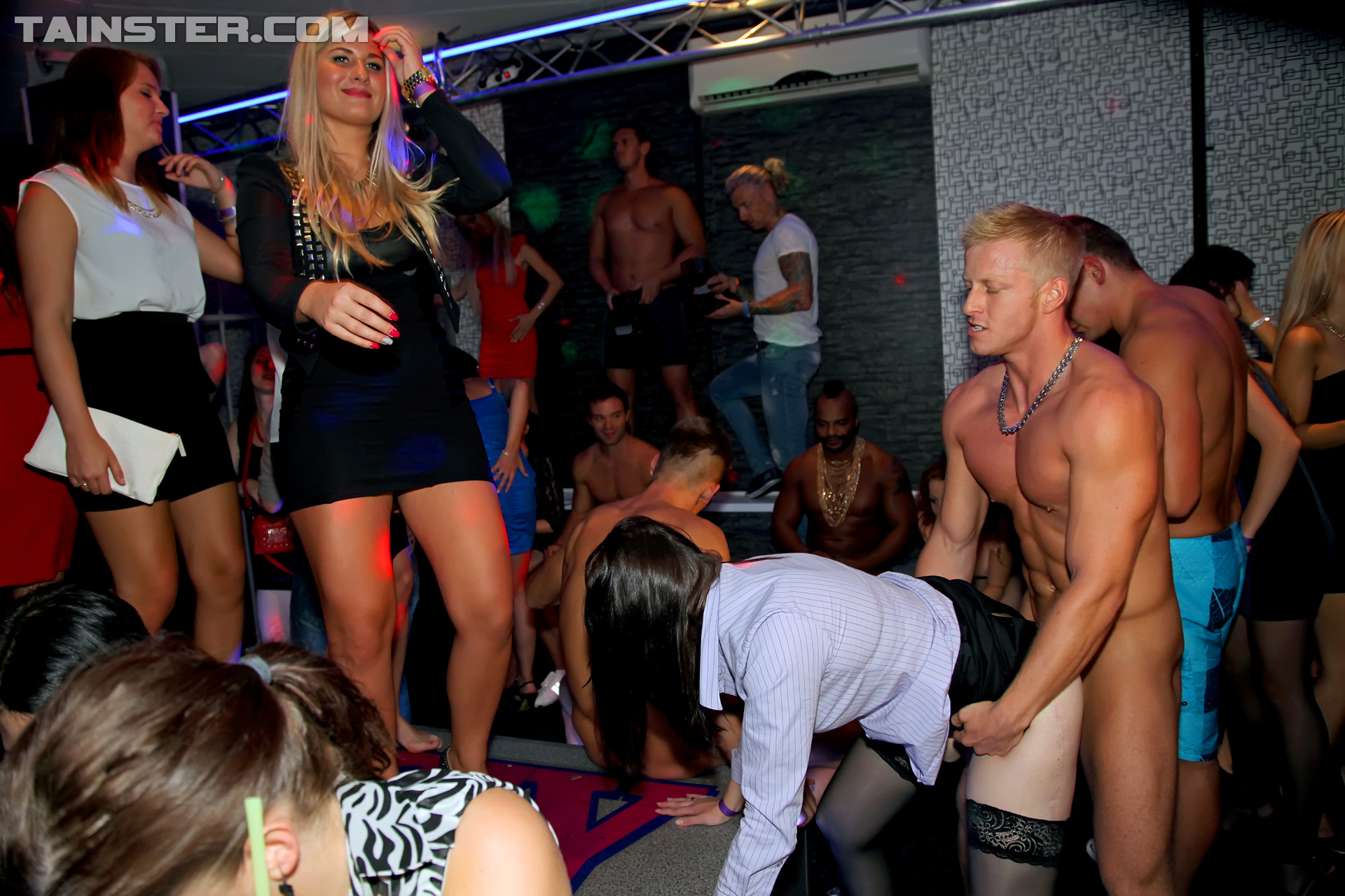 Hung Male Strippers Shoot Cum On Some Partying Cumsluts -5886