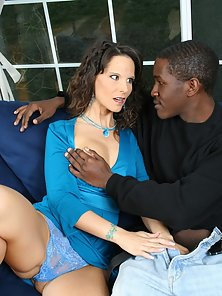 A horny white wife nailing her ebony stepson on camera