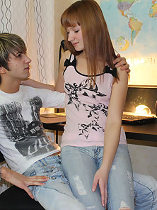 Teen babe was sold to stranger by BF and fucked by him