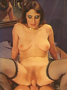 Horny seventies hooker gets naughty with client after client
