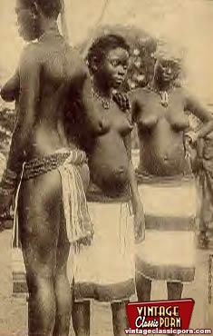 Classic vintage african porn