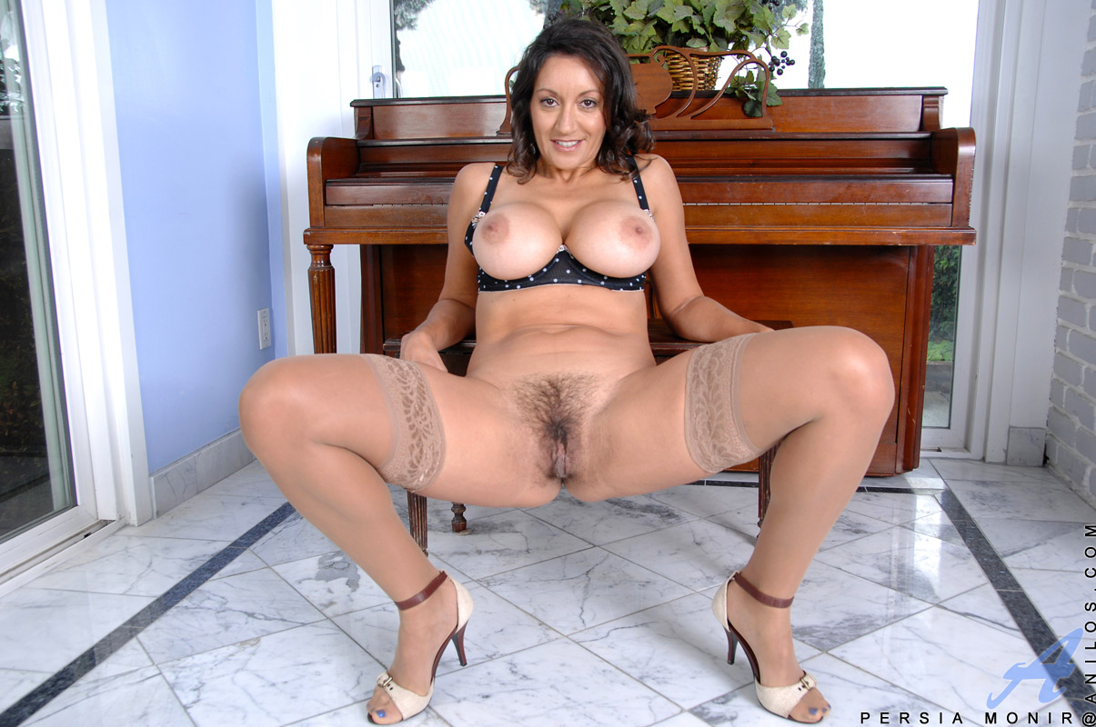 Persia Monir Pops Out Her Huge Mature Tits While Spreading Her Legs For A View Of