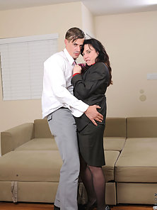 Check out Karen Kougar swollen hot pussy as it is seriously pounded by a hot stud