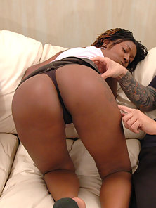 On this very special holiday episode of Her First Anal Sex we have for you, the beautiful ebony Eve