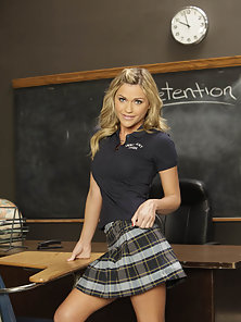 Beautiful schoolgirl gets her blonde hair pulled as shes getting penetrated