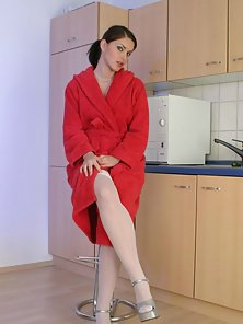 Marketa Brymova Bath Robe And Stockings