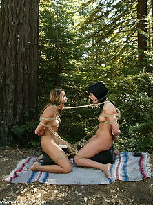 Melissa Lauren is locked in metal shackles and cattle proded