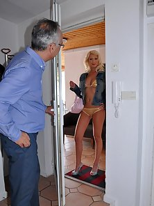 Senior drilling a blonde sweetie