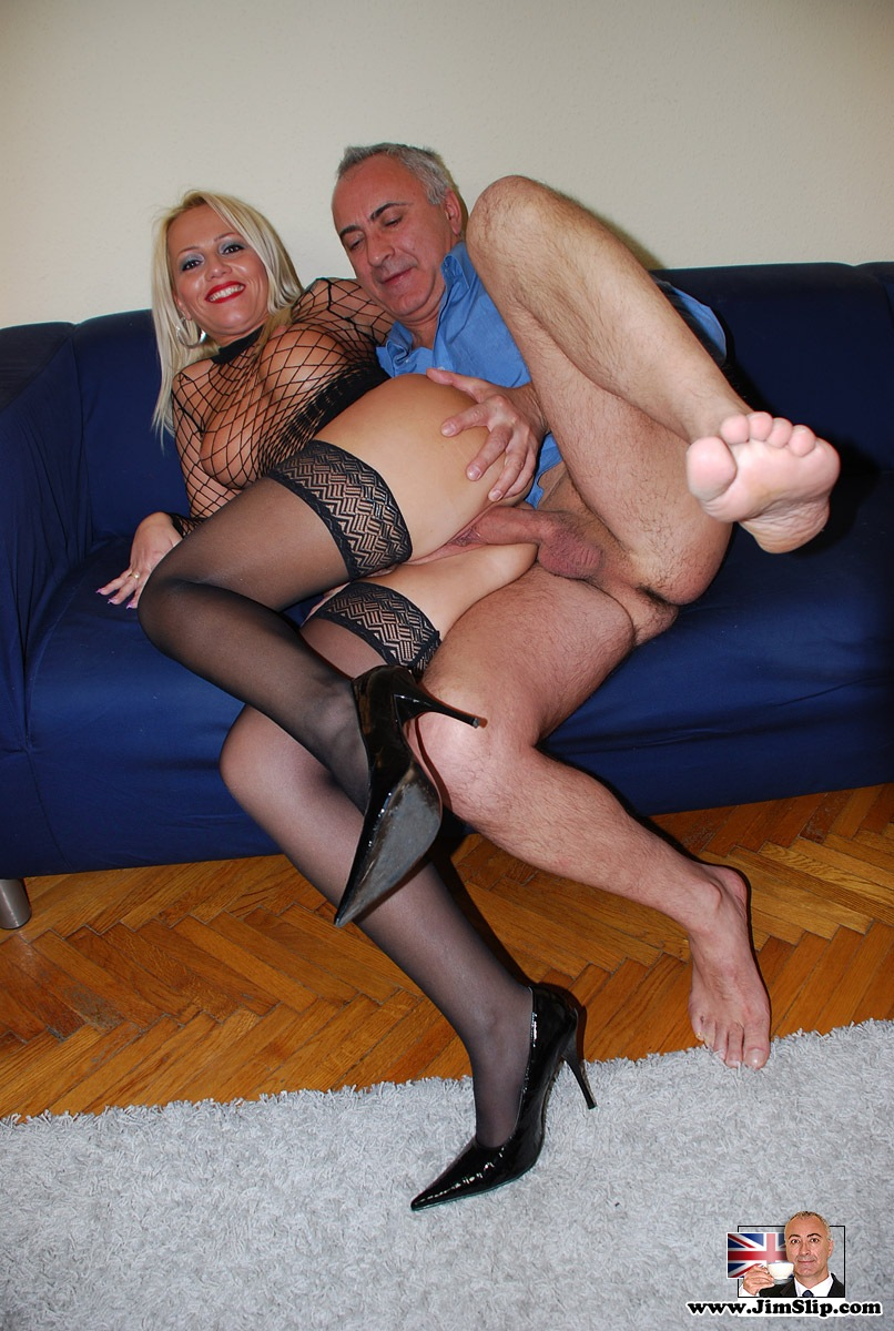 hosiery porn blonde british stocking slut gets fucked