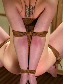 Shibari rigger Lew Rubens goes to work on Madison Young