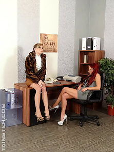 Secretaries nailed by horny boss