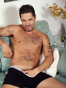 Sexy fucking dude, tattoes and a huge hard dick too