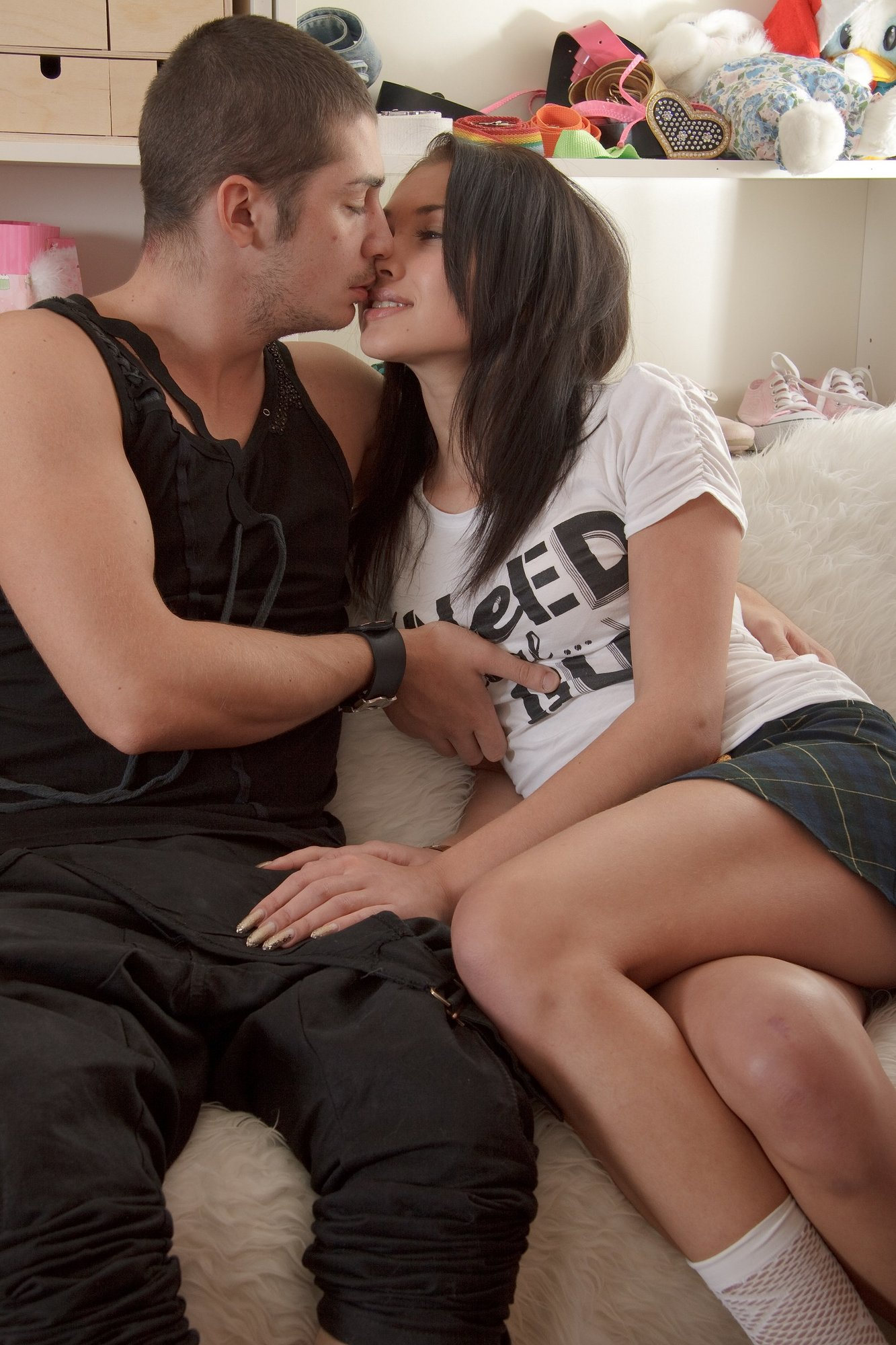 ... Cute brunette teen gets her pussy fucked hard ...