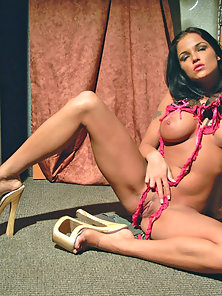 Lanny Barby shows off her huge titties