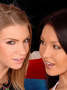 Hot lesbian teens in anal and vaginal sapphic sex