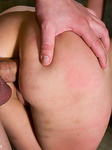 Amber Rayne gets her slave asshole trained
