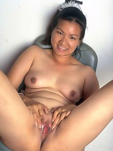 Asian opens her tiny ass wide for thick cocks