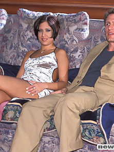 Perky breated girl having hardcore sex while wearing high heels