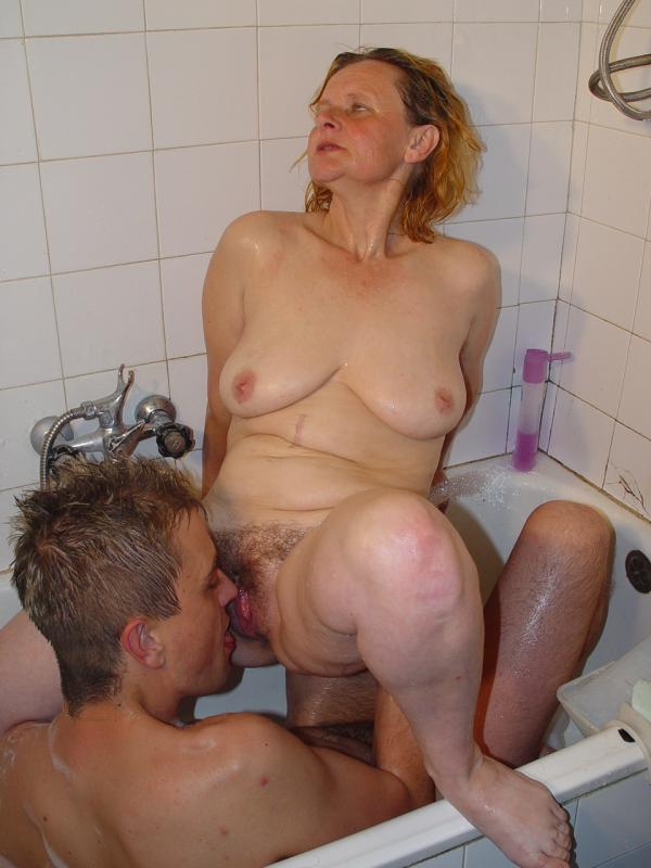 Granny fucked from behind