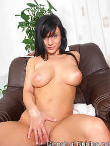 Sweet ginnah removes her white bra to reveal her enormous breasts