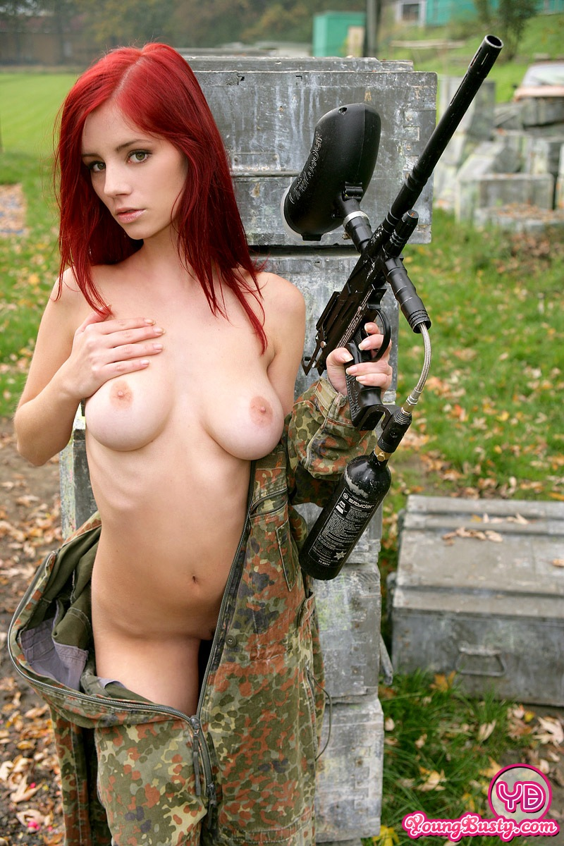 Paintball nude women