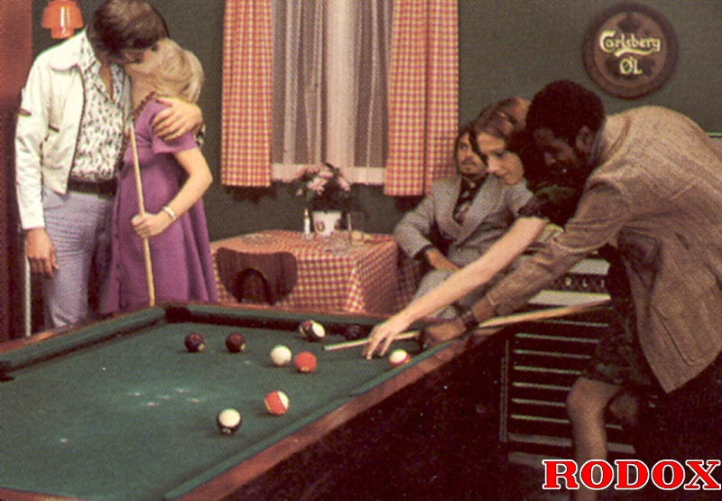 Pool table group sex