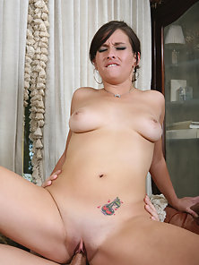 Pretty latina babe gets filled