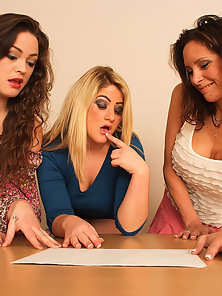 Three babes love giving handjobs
