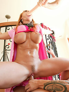 Sexy red head mother loves being made into filthy cock slut