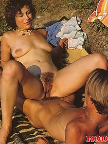 Naughty seventies lady gets stuffed in the nature