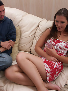 Vicki had a holiday wish to get double fucked