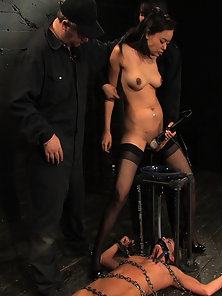 Part 2 of a 3 hour non stop live BDSM show. Isis Love tops.
