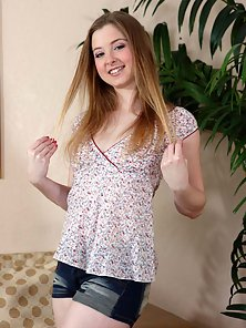 Sunny Lane looking like the all natural girl next door before getting fucked and sucking cock.