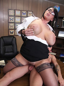 Indianna Jaymes fucks a young stud