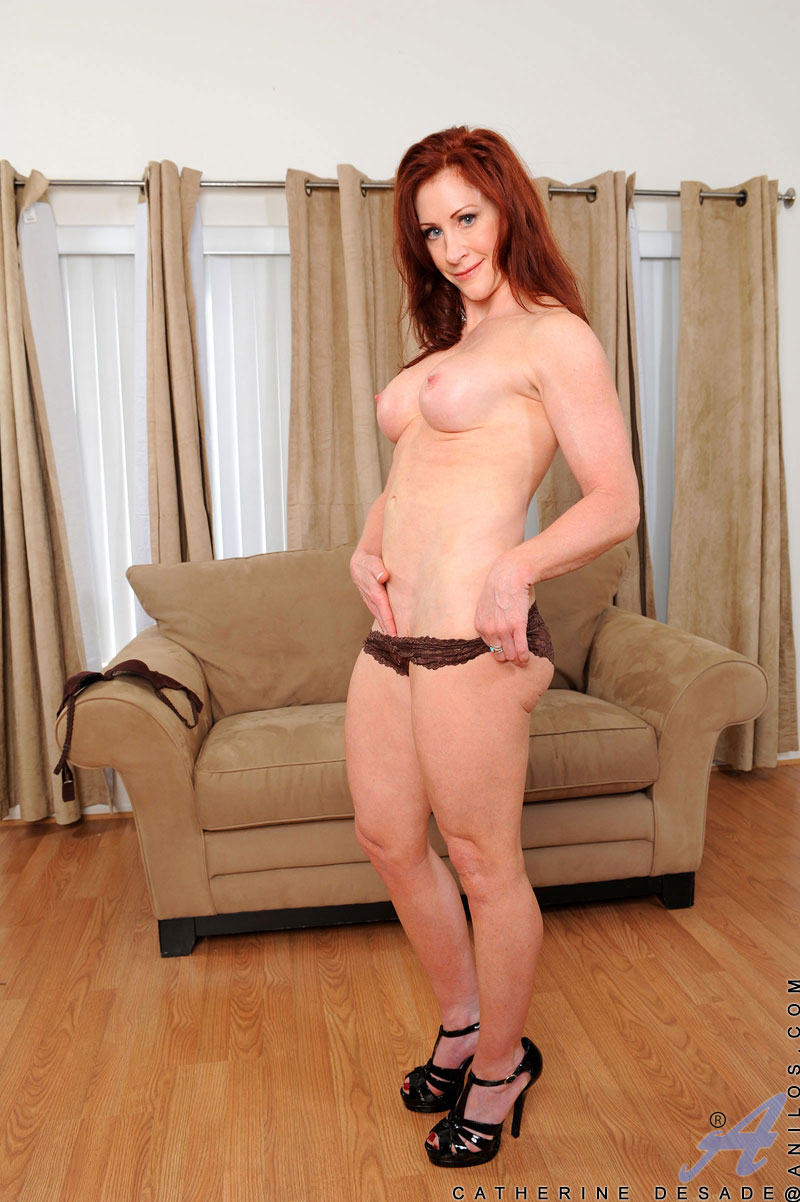 Red headed milf fucked on the couch