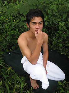 Horny gay lover dirty play in the jungle