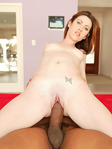 Candice Cox timy pussy tore up by black cock