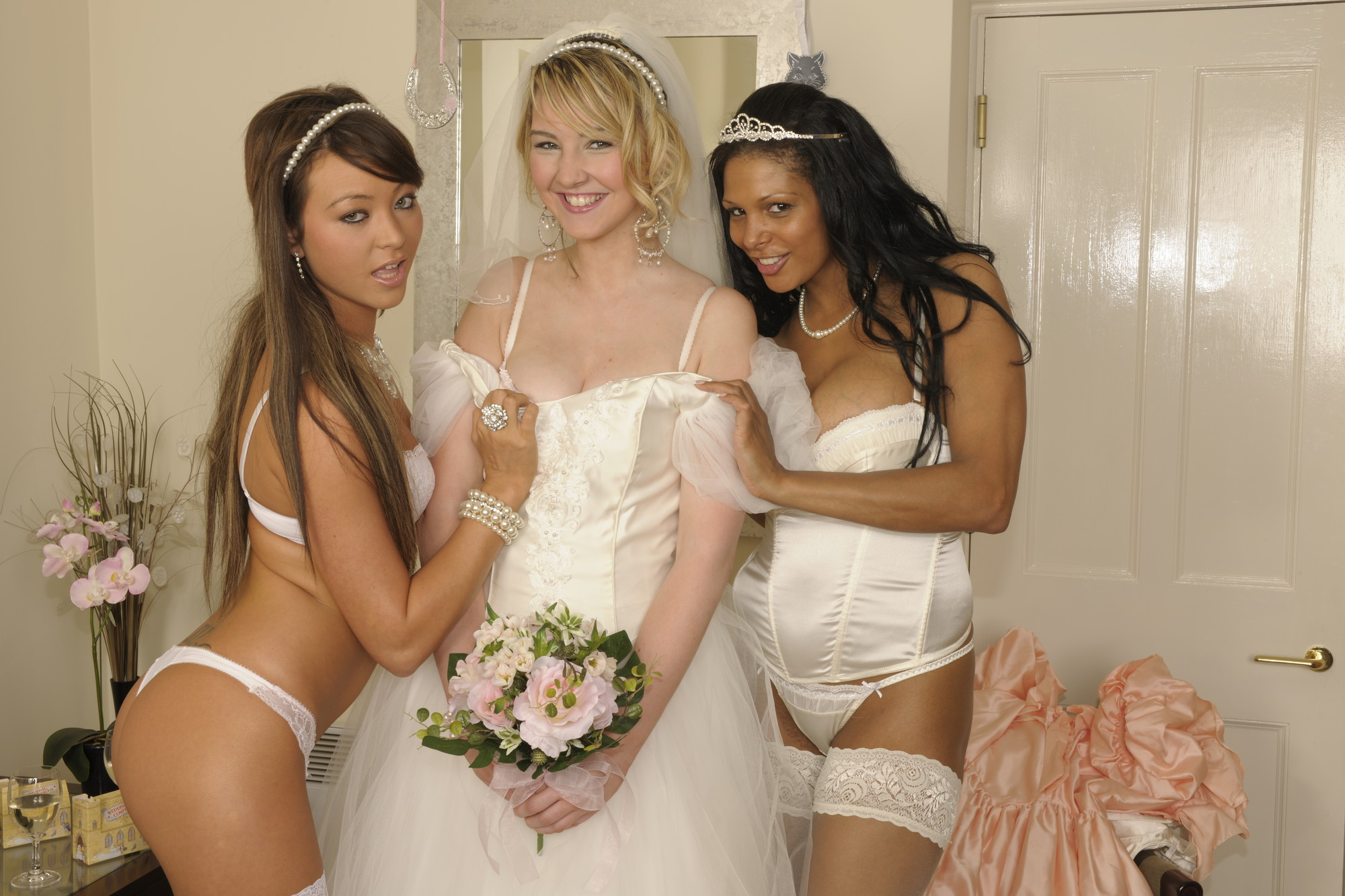Naughty bride with friends will fuck your brain out 4