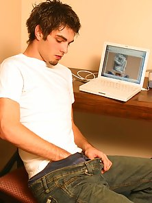 Handsome boy Showing off in gay chat room